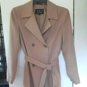 Utex Design lined poly blend trench coat.
